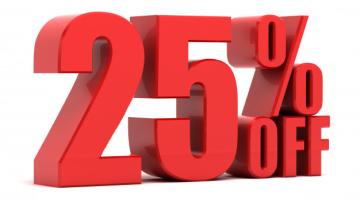 Cupón de descuento 25% en tu primera compra