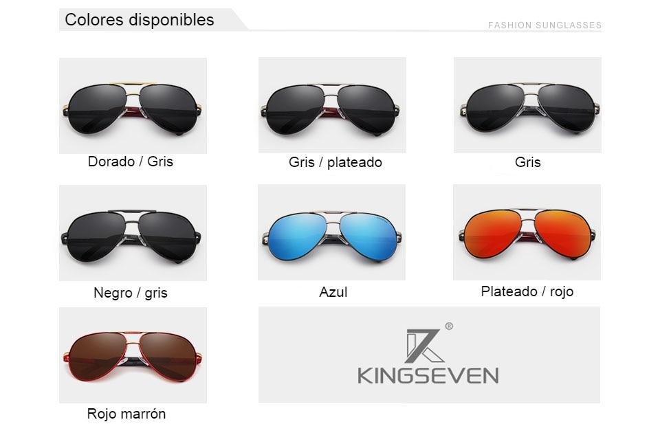 KINGSEVEN, gafas de sol polarizadas de aluminio Vintage para hombre, gafas de sol de marca clásica, lentes de revestimiento, gafas de conducción para hombres / mujeres