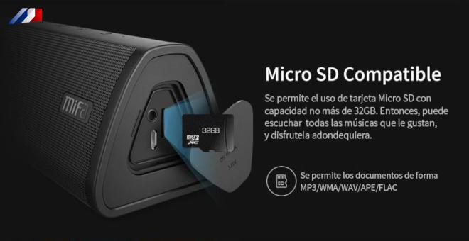 Altavoz Bluetooth Mifa Sistema de sonido de altavoz inalámbrico portátil 10W estéreo Música envolvente Altavoz exterior impermeable