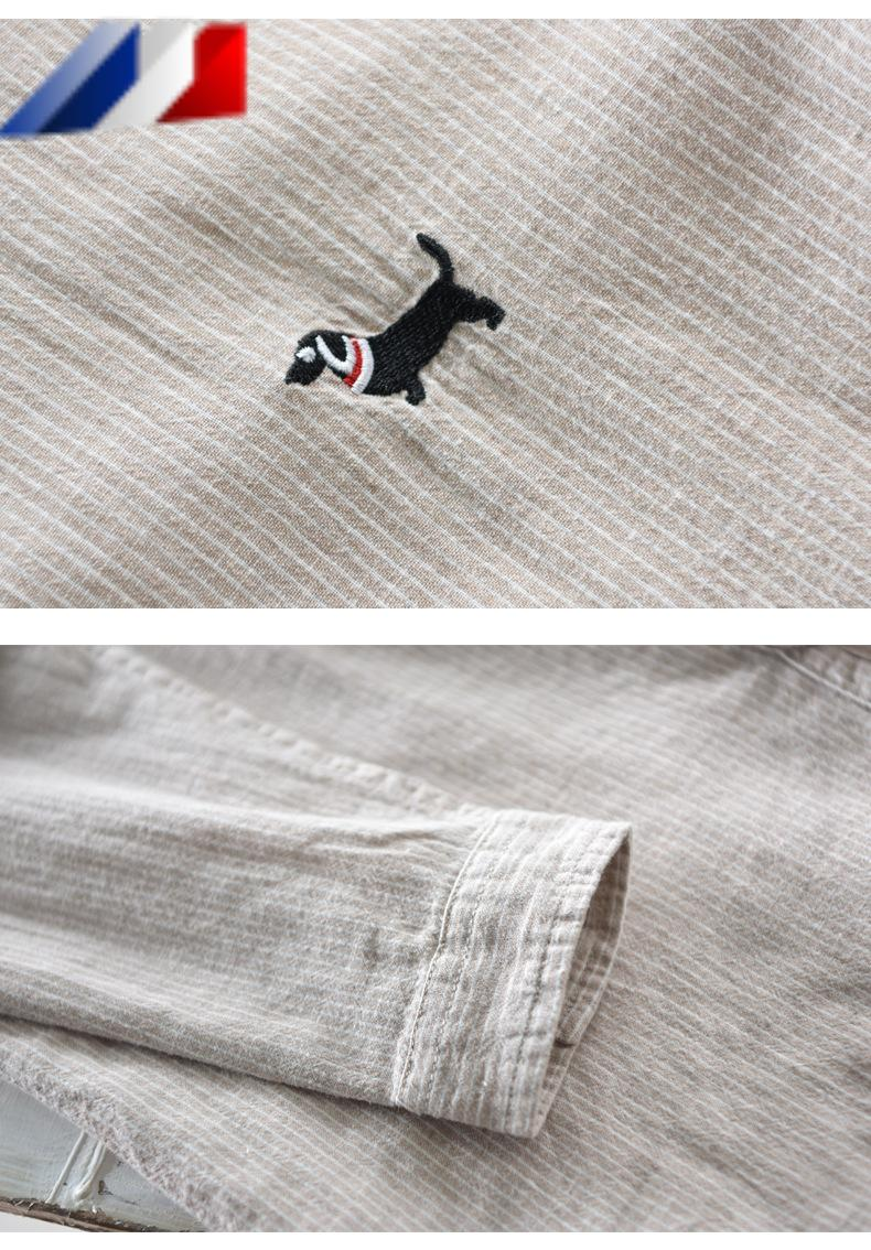 Camisa de manga larga de LINO vintage para hombre